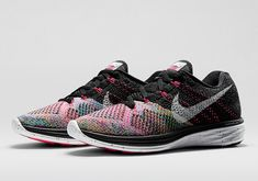 Nike Womens Flyknit Lunar 3 Color: Black/White-Multi-color