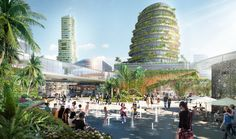 """Designed by Sasaki. Located on four man-made islands in Iskandar Malaysia, """"Forest City"""" is set to be South-East Asia's largest, mixed usegreen development. Designed by..."""