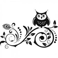 Owl Wall Decal by Adsforyou on Etsy