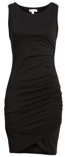 Leith Ruched Body-Con Tank Dress That little black dress every girl needs!