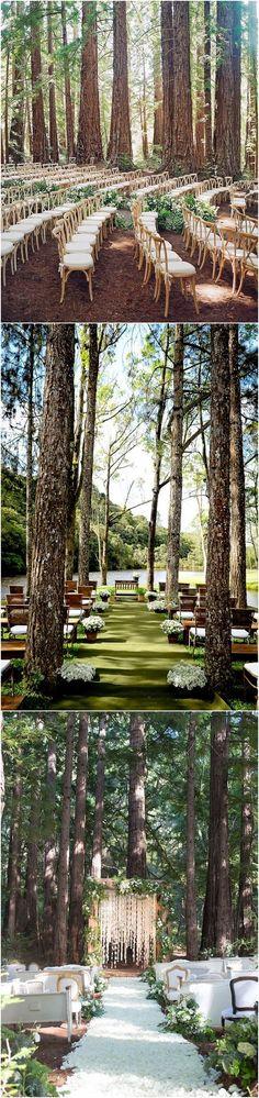 outdoor wedding ideas - forest woodland wedding ceremony decor ideas #wedings #wedding #weddingideas #weddingarches #weddingdetails #woodland #deerpearlflowers