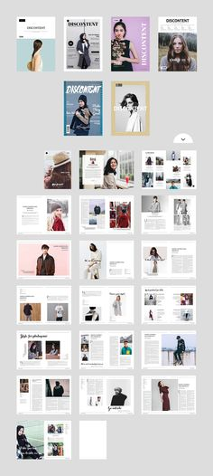 Discontent Magazine by Ally & Co. on @creativemarket
