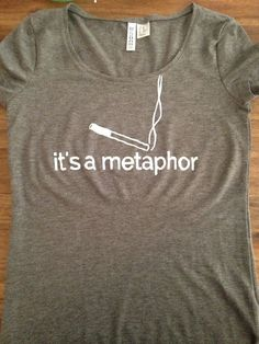 "The Fault in our Stars Inspired ""It's A Metaphor"" Tee John Green on Etsy, $25.50"
