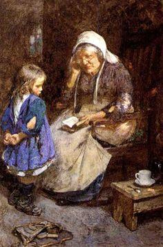 """The thorny path of knowledge"". John Henry Henshall (1856–1928), English painter."