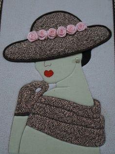 Caixa decorada: Dama Antiga