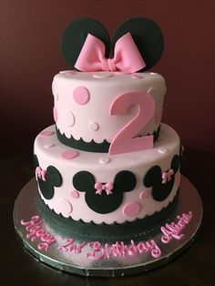 Image result for minnie mouse cakes