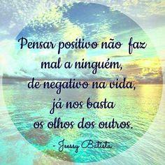 Pensamentos positivos e xô olho gordo