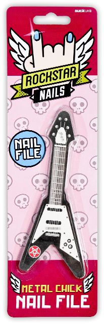 Rockstar Nail File : File your nails on tiny guitars. Rock n Roll.