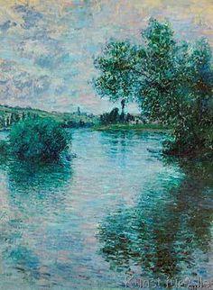 Claude Monet - La Seine a Vetheuil - The Seine near Vet