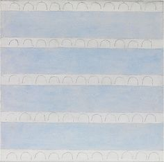 Agnes Martin / Untitled, Acrylic and graphite on canvas, 1974