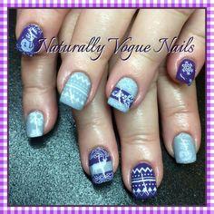 Christmas sweater nail art. Nail innovationz gel nail products