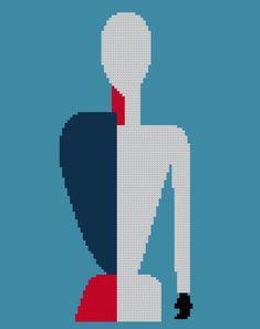 Torso cross stitch pattern Artist: Kasimir Sewerinowitsch Malewitsch (1878 – 1935) Art movement: modern art Fabric: Aida 16 count Grid Size: 51W x 118H Design … The post Torso PDF pattern appeared first on easy peasy stitches. Pdf Patterns, Cross Stitch Patterns, Colour List, Easy Peasy, Grid, Modern Art, Stitches, Count, Symbols