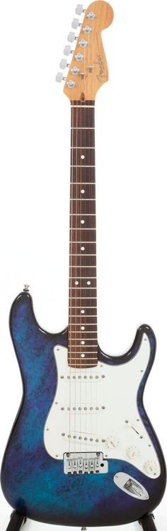 1995 Fender Stratocaster Blue Tie-Dye Aluminum Body Electric Guitar, Serial # N504790