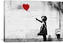 Save on Banksy Art from iCanvas courtesy of UrbanDaddy Perks. Iconic work by Banksy, the singular street artist with a particular talent for transforming drab spaces with his thought-provoking, statement-making art. Banksy Canvas Prints, Canvas Wall Art, Wall Art Prints, Banksy Artwork, Banksy Paintings, Artwork Wall, Diy Canvas, Arte Banksy, Bansky