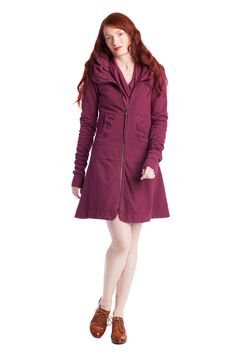 Show Pony Boutique - Prairie Underground - Long Cloak Hoodie in Beet, $248.00 (http://www.showponyboutique.com/prairie-underground-long-cloak-hoodie-in-beet.html?page_context=brand