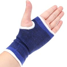 [USD0.83] [EUR0.78] [GBP0.61] High Elastic Sports Protective Palm Sporting Goods, Pack of 2(Blue)