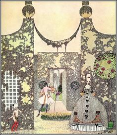 From In Powder and Crinoline    Illustrated by Kay Nielsen, 1912.