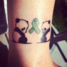 Happy panda, sad panda tattoo: mental health awareness! #bipolar #mental health # tattoo # panda