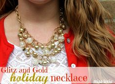 This lovely holiday tutorial, Glitz and Gold Holiday Necklace , is up on 30 Handmade Days blog! Be sure to go check it out! It's t...