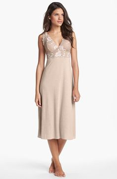 Free shipping and returns on Natori 'Zen Floral' Nightgown at Nordstrom.com. An opulent lace overlay romances the plunging V-neck bodice of a slim chemise fashioned from a buttery-soft, stretchy knit.