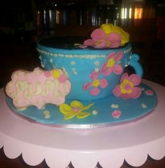 Mothers day tea cup cake