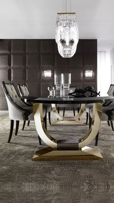 Luxury Dining Room, Dining Room Sets, Dining Room Furniture, Dining Room Table, Dining Chairs, Luxury Living, Dinning Table Design, Modern Dining Table, Esstisch Design