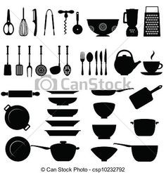 Vector - Kitchen utensil icon set - stock illustration, royalty free illustrations, stock clip art icon, stock clipart icons, logo, line art, EPS picture, pictures, graphic, graphics, drawing, drawings, vector image, artwork, EPS vector art