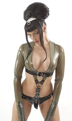 Latex Combination Bondage & Bikini outfit by HOUSE of HARLOT. We call it our BONDAGEKINI!! What's not to love XXX