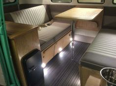 Camper interior in a splitscreen van