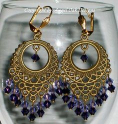 Jewelry for Your Ears - Gypsy Chandeliers in Shades of Purple | AngelOakDesigns - Jewelry on ArtFire