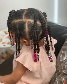 Toddler Braided Hairstyles, Girls Natural Hairstyles, Baby Girl Hairstyles, Mixed Kids Hairstyles, Black Little Girl Hairstyles, Black Hairstyles, Girls Braids, Curly Hair Styles, Toddler Fashion