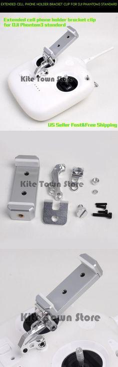 Extended cell phone holder bracket clip for DJI Phantom3 standard #fpv #plans #racing #drone #standard #technology #tech #camera #parts #holder #dji #shopping #kit #gadgets #phantom #products #3