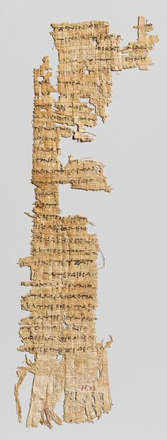 (Period 3 1000 - 1 A D ) **Information** ca 285 -250 BC Hellenistic **Location** Modern Day Greece **Symbols** Greek symbols **Content** Homer's Odyssey **Structure** Greek grammar **Material** Papyrus **Context** Papyrus fragment with lines from Homer's Odyssey