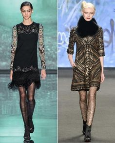 5 Tights Trends from New York Fashion Week to Try Now from InStyle.com
