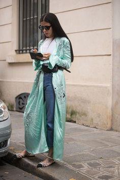 2016 trends silk robe coat