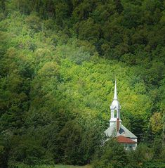 I love driving thru the mountains and all of a sudden I see a steeple peeking thru the trees....brings tears to my eyes! ;)