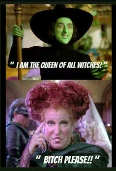 Wicked witch: I'm now queen of the witches now! Wendy: no you are not! Wicked witch: who are you, who dares to challenge me! Wendy: I'm the true queen and I say I put a spell on you! Halloween Meme, Halloween Quotes, Halloween Movies, Holidays Halloween, Happy Halloween, Halloween Party, Halloween Table, Halloween Costumes, Halloween Stuff