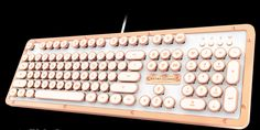 A retro keyboard in Bluetooth or wired USB forms for Macs or Windows computers. How beautiful is this?!