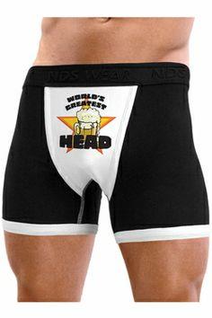 1036586ab1 World s Greatest Head - Mens Boxer Brief Underwear
