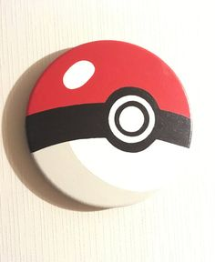 Hand painted Pokeball Canvas by ConfettiCreationCo on Etsy Painting Words, Painting Videos, Diy Painting, Painting & Drawing, Pokemon Birthday, 4th Birthday, Rock Painting Ideas Easy, Paint Ideas, Pokemon Painting