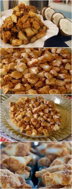 AS FESTAS JUNINAS CHEGANDO,OLHA QUE RECEITA DELICIOSA PARA A SUA FESTA!! VEJA AQUI>>>Tirar o coco da casca e cortar em cubos médios, reserve. Em uma panela alta coloque todos os ingredientes e leve ao fogo alto, mexendo sempre no mesmo sentido para  #receita#bolo#torta#doce#sobremesa#aniversario#pudim#mousse#pave#Cheesecake#chocolate#confeitaria
