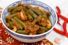 Sajoer tumis boontjes - Erik's Asia   SmaakMenutie Asian Recipes, Healthy Recipes, Healthy Food, Green Beans, A Food, Vegetables, Om, Health Recipes, Healthy Food Recipes