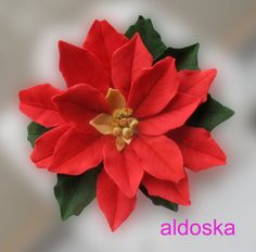 Poinsettia tutorial - by aldoska @ CakesDecor.com - cake decorating website