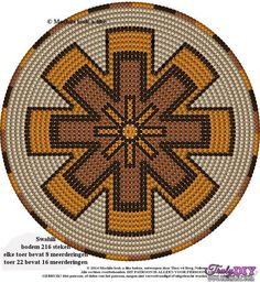 Wayuu Mochila bottom Tapestry Crochet Patterns, Weaving Patterns, Crochet Stitches, Crochet Round, Crochet Home, Wiggly Crochet, Mochila Crochet, Foto Transfer, Pixel Pattern