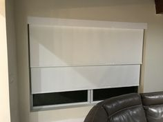 Blackout & Screen Dual Bracket Roller Shade with Flat Facia Track by Elite Decor Miami Privacy Shades, Roller Shades, Miami, Flat Screen, Track, Decor, Blood Plasma, Decoration, Runway