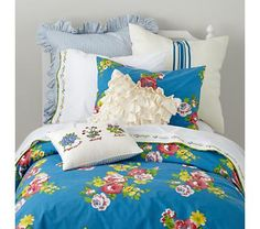 Girls Bedding: Blue Countryside Bedding Set
