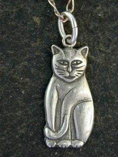 Sterling Silver Cat Pendant on Sterling Silver by peteconder, $28.00