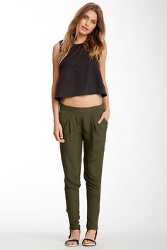 Everly Silk Zip Pant