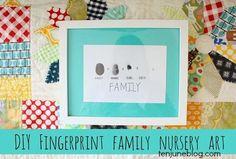 Ten June: DIY Fingerprint Family Nursery Art #baby #kids #family