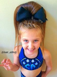 her cheer hair is perfect